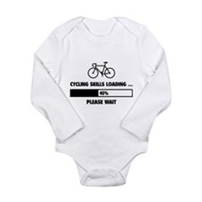 Cycling Skills Loading Long Sleeve Infant Bodysuit