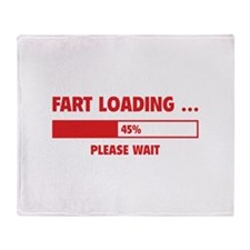 Fart Loading Throw Blanket