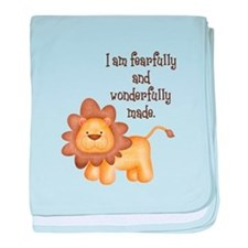 I am fearfully and wonderfully made baby blanket