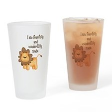 I am fearfully and wonderfully made Drinking Glass