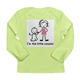 Little Cousin - Stick Figures Long Sleeve Infant T