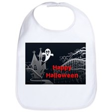 Haunted House Halloween Bib