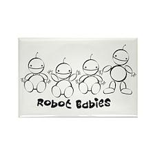 Robot Love Rectangle Magnet