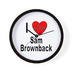 I Love Sam Brownback Wall Clock