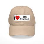 I Love Sam Brownback Cap
