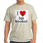 I Love Sam Brownback (Front) Ash Grey T-Shirt