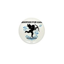 Shooting For Liam Blue Swirls Mini Button (10 pack