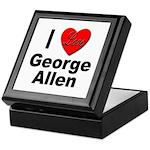 I Love George Allen Keepsake Box