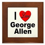 I Love George Allen Framed Tile