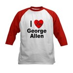 I Love George Allen (Front) Kids Baseball Jersey