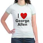 I Love George Allen (Front) Jr. Ringer T-Shirt