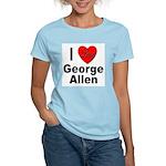 I Love George Allen (Front) Women's Pink T-Shirt
