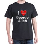 I Love George Allen (Front) Black T-Shirt
