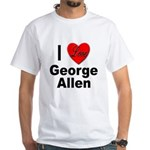 I Love George Allen (Front) White T-Shirt