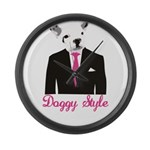 Doggy Style Large Wall Clock