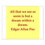 edgar allan poe quote Small Poster