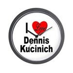 I Love Dennis Kucinich Wall Clock