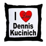 I Love Dennis Kucinich Throw Pillow