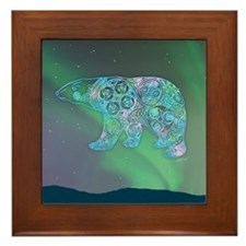 Celtic Polar Bear Framed Tile