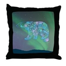 Celtic Polar Bear Throw Pillow