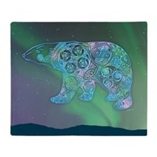 Celtic Polar Bear Throw Blanket
