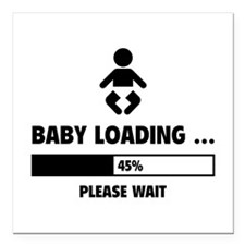 "Baby Loading Square Car Magnet 3"" x 3"""