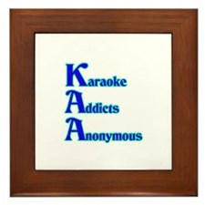 Karaoke Addicts Anonymous Framed Tile