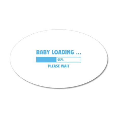 Baby Loading 38.5 x 24.5 Oval Wall Peel