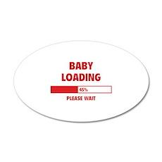Baby Loading 22x14 Oval Wall Peel