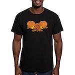 Halloween Pumpkin Don Men's Fitted T-Shirt (dark)