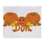Halloween Pumpkin Don Throw Blanket
