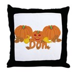 Halloween Pumpkin Don Throw Pillow