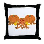 Halloween Pumpkin Don Throw Pillow