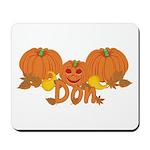 Halloween Pumpkin Don Mousepad