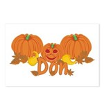 Halloween Pumpkin Don Postcards (Package of 8)