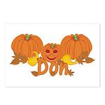 Halloween Pumpkin Don Postcards (Package of 8)