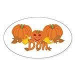 Halloween Pumpkin Don Sticker (Oval)