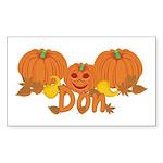 Halloween Pumpkin Don Sticker (Rectangle)