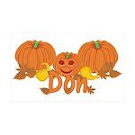 Halloween Pumpkin Don 35x21 Wall Decal