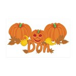 Halloween Pumpkin Don 35x21 Wall Decal