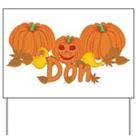 Halloween Pumpkin Don Yard Sign