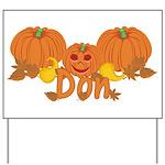 Halloween Pumpkin Don Yard Sign