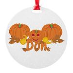Halloween Pumpkin Don Round Ornament