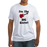 Im the Big Sister (guitar) Fitted T-Shirt