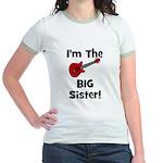 Im the Big Sister (guitar) Jr. Ringer T-Shirt