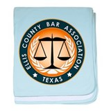 Ellis County Bar Association Logo baby blanket