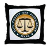 Ellis County Bar Association Logo Throw Pillow