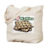 """I Love Waffles"" Tote Bag"
