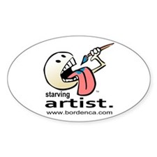 Starving Artist - Paint Eater Oval Decal
