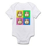 Color Block Guinea Pigs Infant Creeper